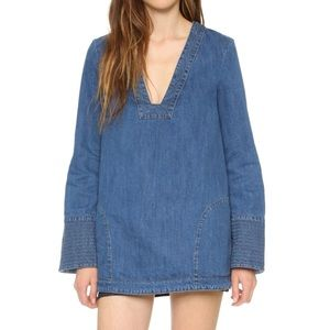 Free People Dreaming of Denim Tunic Size XS